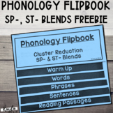 {Freebie} Phonology Flipbook: Cluster Reduction of ST- & S