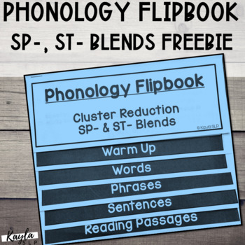 Phonology Flipbook: Cluster Reduction of ST- & SP- Blends