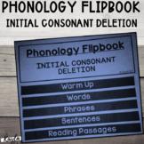Phonology Flipbook: Initial Consonant Deletion (Blackline, No Cut!)