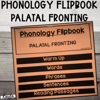 """Phonology Flipbook: Palatal Fronting of """"SH"""" and """"ZH"""" (Blackline, No Cut!)"""