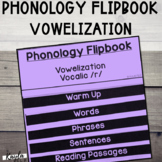 Phonology Flipbook: Vowelization of Vocalic /r/ (Blackline