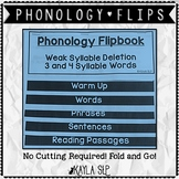 Phonology Flipbook: Weak Syllable Deletion (Blackline, No Cut!)