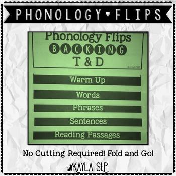 Phonology Flipbooks: Backing T&D