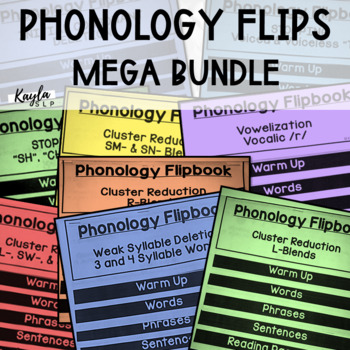 {GROWING BUNDLE} Phonology Flipbooks: 16 Total (Blackline,