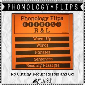 Phonology Flipbook: Gliding R&L (Blackline, No Cut!)