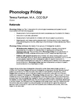 Phonology Friday Guide
