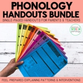 Phonology Handouts BUNDLE for Speech Therapy
