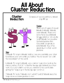 Phonology Home Packet: Cluster Reduction