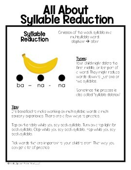 Phonology Home Packet: Syllable Reduction