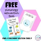 Phonology Interactive Mini-Books FCD FREEBIE (final /p/)