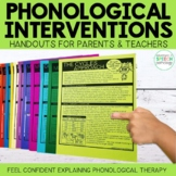 Phonology Interventions: Handouts for Parents and Teachers