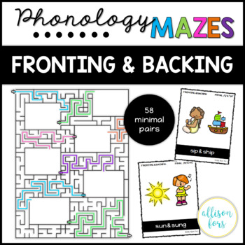 Fronting and Backing Phonology Mazes Speech Therapy