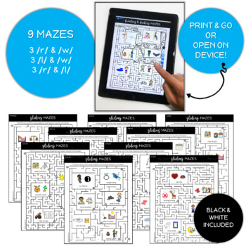 Gliding Phonology Mazes Speech Therapy