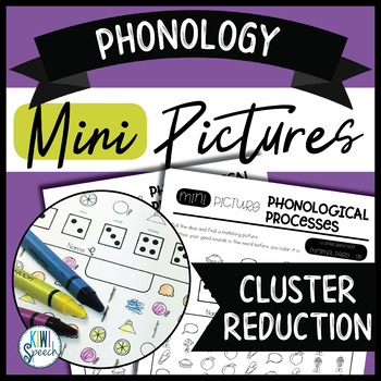 Phonology Mini Pictures - Cluster Reduction (NO-PREP)