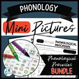 Phonology Mini Pictures - Phonological Processes BUNDLE (NO-PREP)