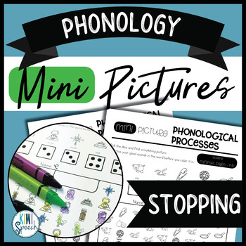 Phonology Mini Pictures - Stopping (NO-PREP)