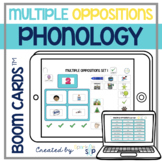 Phonology Multiple Oppositions Boom Cards™️ for Speech Therapy