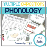 Phonology Multiple Oppositions:  Go-To Quick Skill Drill Cards