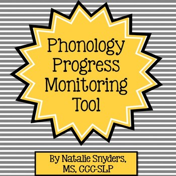 Phonology Progress Monitoring Tool for Speech Language Therapy
