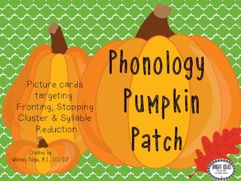 Phonology Pumpkin Patch