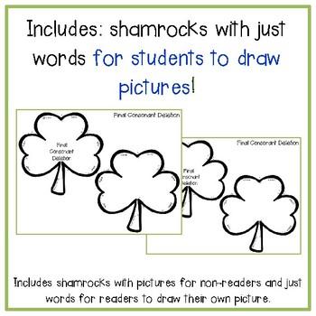 Phonology Shamrocks: Speech and Language Shamrock Crafts