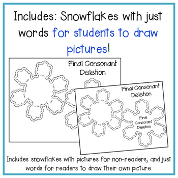 Phonology Snowflakes: Snowflake Crafts for Phonology