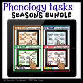 Phonology Tasks for Teletherapy: NO Print Seasons BUNDLE