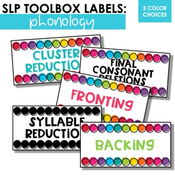 Phonology Toolbox Labels For SLPs