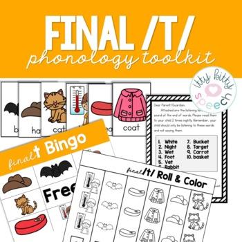 Phonology Toolkit - /t/ final FREEBIE