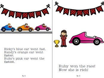 """Phonology book for w/r gliding  """"Wait for the Race"""""""
