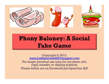 Phony Baloney: A Social Fake Game