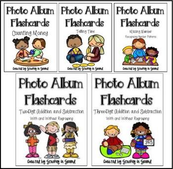 Photo Album Flashcards: 2nd Grade Math BUNDLE
