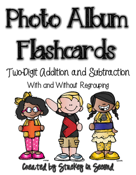 Photo Album Flashcards: Two-Digit Addition & Subtraction