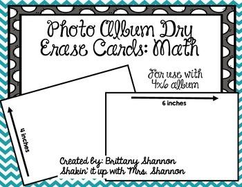 Photo Album: Math Skills