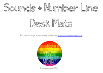 Photo Alphabet + Number Line Desk Mats