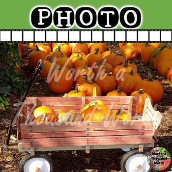 Photo: Autumn Pumpkins and Wagon