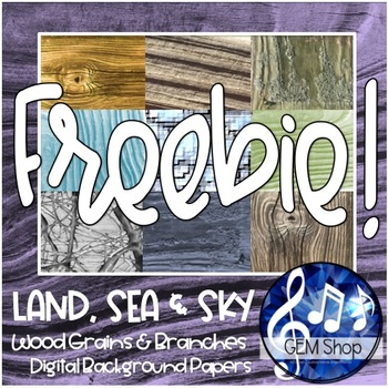 FREE BACKGROUND PAPERS: WOOD Grains, Trees, Branches - Commercial use OK!