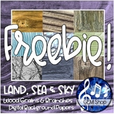 FREE Digital Photo Background Wallpaper Clip Art - Wood Gr