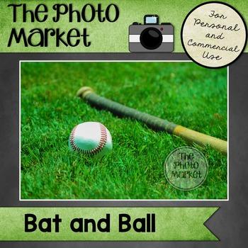 Photo: Baseball Bat and Ball