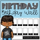 Printer Friendly Photo Birthday Wall for the Classroom or Staffroom