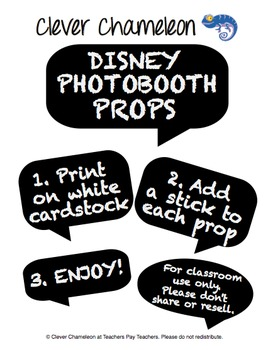 Photo Booth Props Drama Props - Disney
