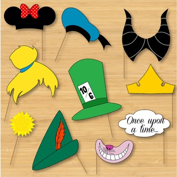 photograph relating to Disney Princess Photo Booth Props Free Printable called Photograph Booth Props Drama Props - Disney