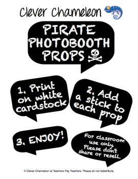 Photo Booth Props Drama Props - Pirate