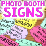 Back to School Photo Booth Signs for the Entire Year!