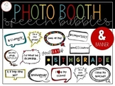 Photo Booth Speech Bubbles and Banner Back to School Props
