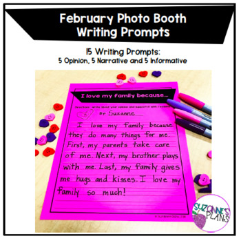 February Photo Booth Writing Prompts