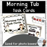Photo Box Task Cards: Morning Tubs or Fine Motor