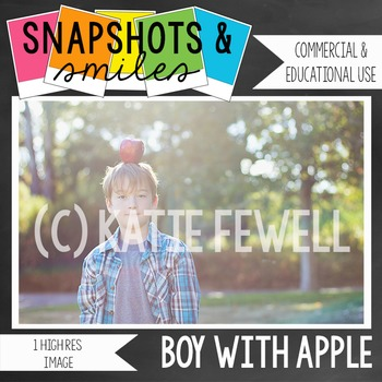 Photo: Boy: Apple: high res image