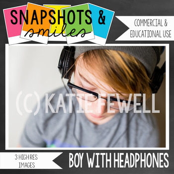 Photo: Boy with headphones: 3 images