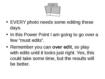 Photo CLEAN UP Power Point